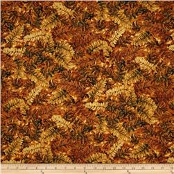 Falls Canvas Medium Leaves Gold & Yellow/Brown Fabric