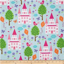 Michael Miller Happy Tones Enchanted Castles Princess Fabric