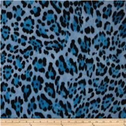 WinterFleece Wild Leopard Blue Fabric