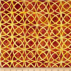 Lonni Rossi Batiks Circles Light Rust