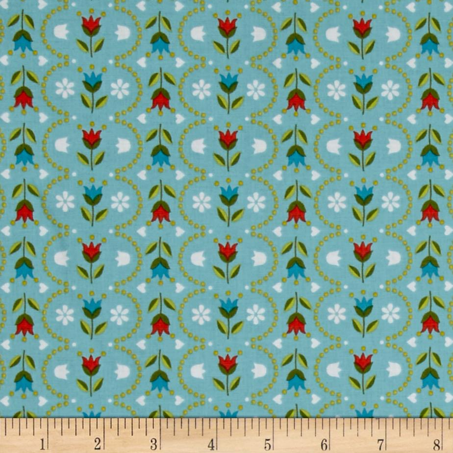 Riley Blake Dutch Treat Stripe Blue