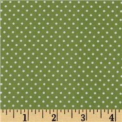 Pimatex Basics Pin Dot Celery/White Fabric