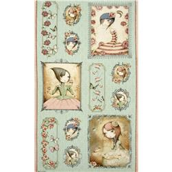 Mirabelle Picture Patch 24 In. Panel Green Fabric