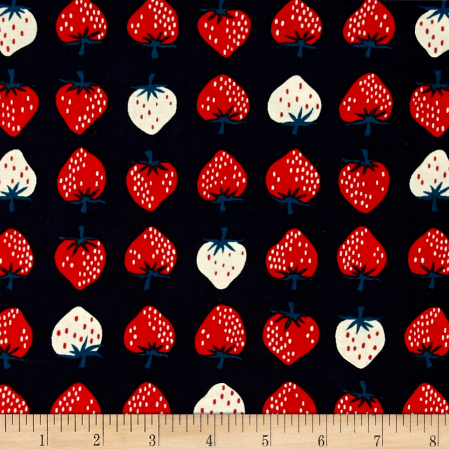 Image of Cotton + Steel Yours Truly Strawberry Red Fabric
