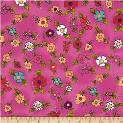 Loralie Designs Happy Blooms Cerise/Multi