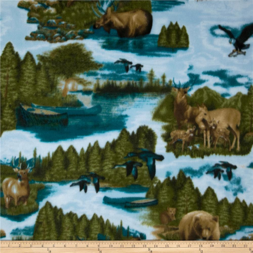 Arctic Fleece Wildlife Blue