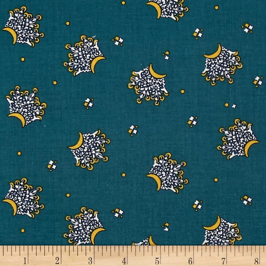 Mary Fons Small Wonders India Crowns Dark Turquoise