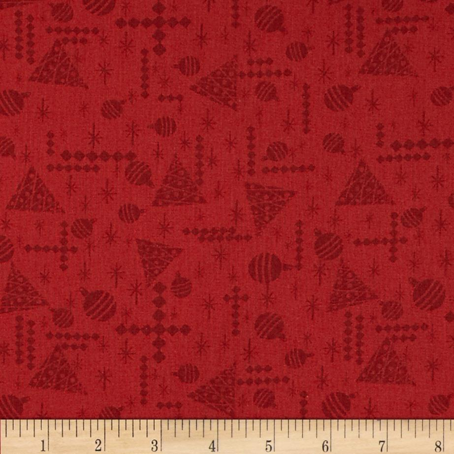 Debbie Mumm Jolly Christmas Tonal Texture Red