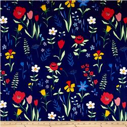 Michael Miller Sommer Canvas Plockade Full Bloom Navy