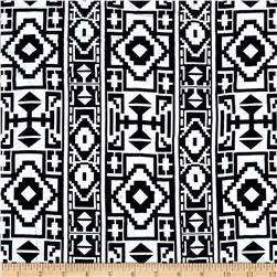 Rayon Challis Ethnic Black/White