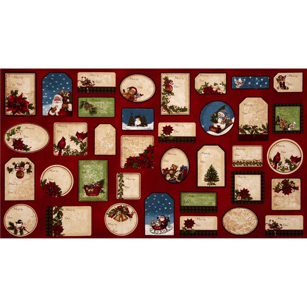 Holly Jolly Christmas Panel Labels Holidays