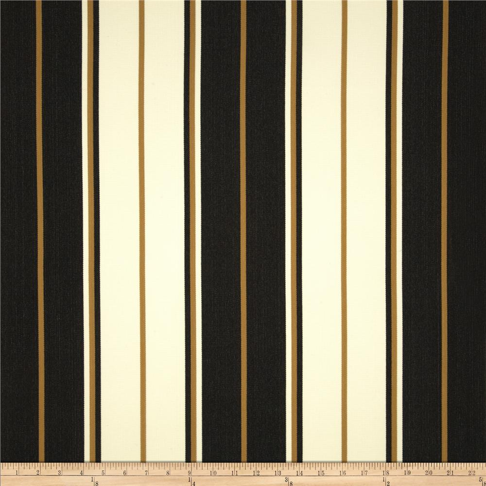 Bella-Dura Eco-Friendly Indoor/Outdoor Summer Tide Stripe Black/Tan