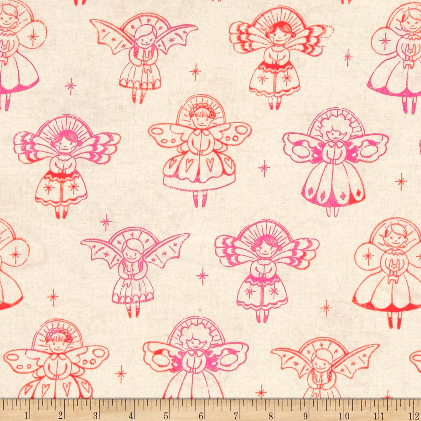 Image of Cotton + Steel Garland Angels Natural Fabric