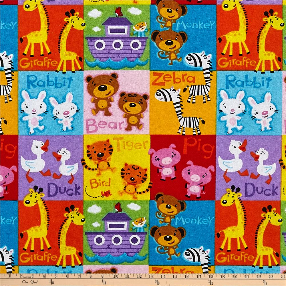 Comfy  Flannel Pet Blocks Multi