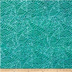 Indian Batik Leaf & Vine Abstract Aqua