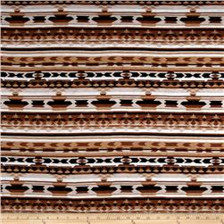 Rayon Jersey Knit Aztec Print Brown