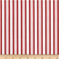 Santa Claus Stripe Red/White