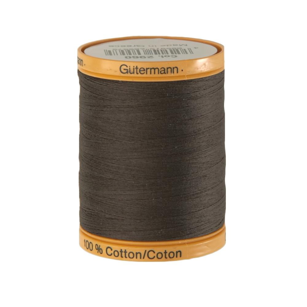 Gutermann Natural Cotton Thread 800m/875yds Bark Brown