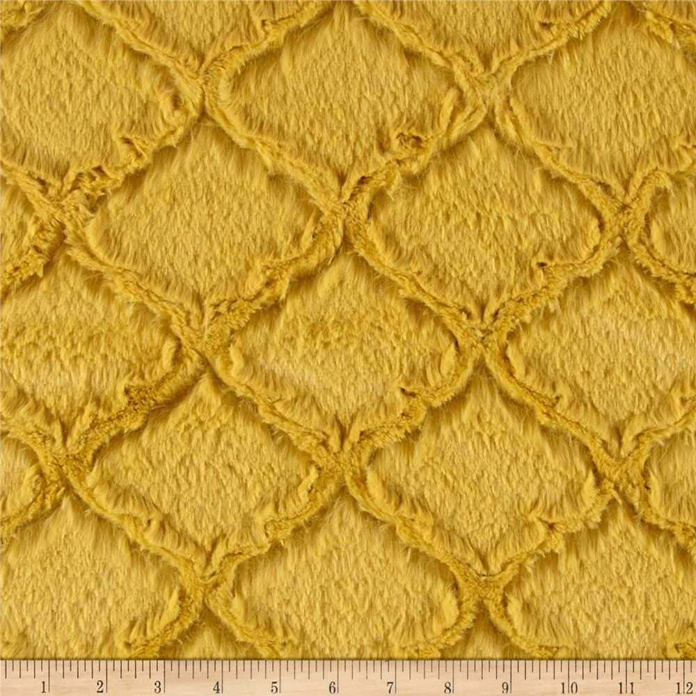 Shannon Minky Soft Lattice Cuddle Antique