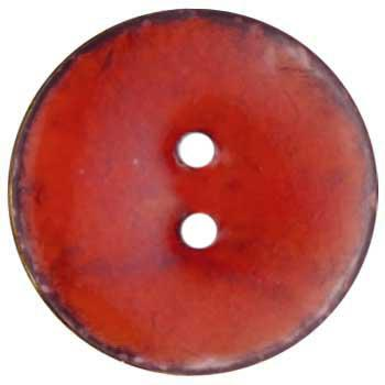 Genuine Coconut Button 1 5/8'' Arles Red