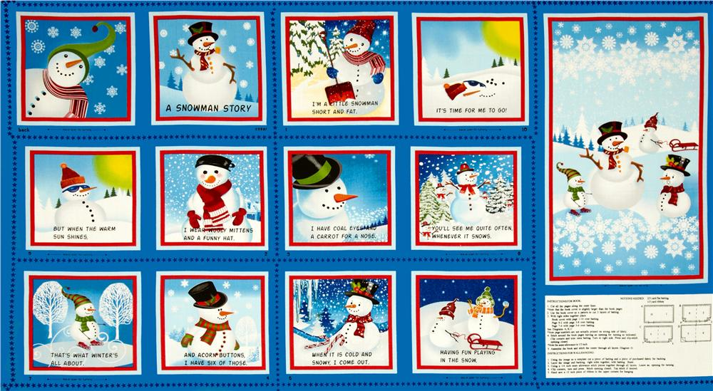 Snowman Story Soft Book Panel