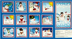 Snowman Story Soft Book Panel Fabric