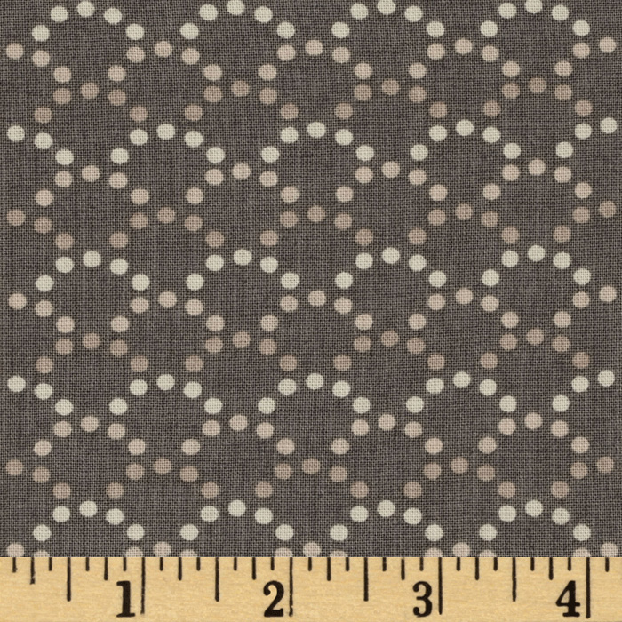 Soho Dotted Arcs Taupe Fabric