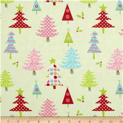 Riley Blake Christmas Basics Trees Lime