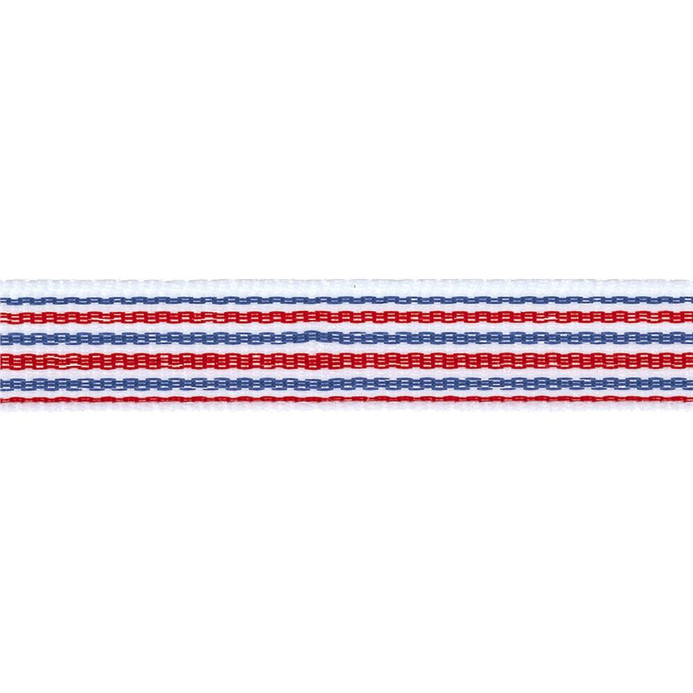 "1/2"" Twill Tape Stripes Red/White/Blue"