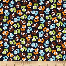Robert Kaufman Urban Zoology Mini Foxes Bermuda