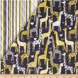 Michael Miller Double Sided Quilted Giraffe Love/Play Stripe