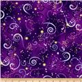 Kanvas Dance Of The Dragonfly Metallic Swirling Sky Deep Purple