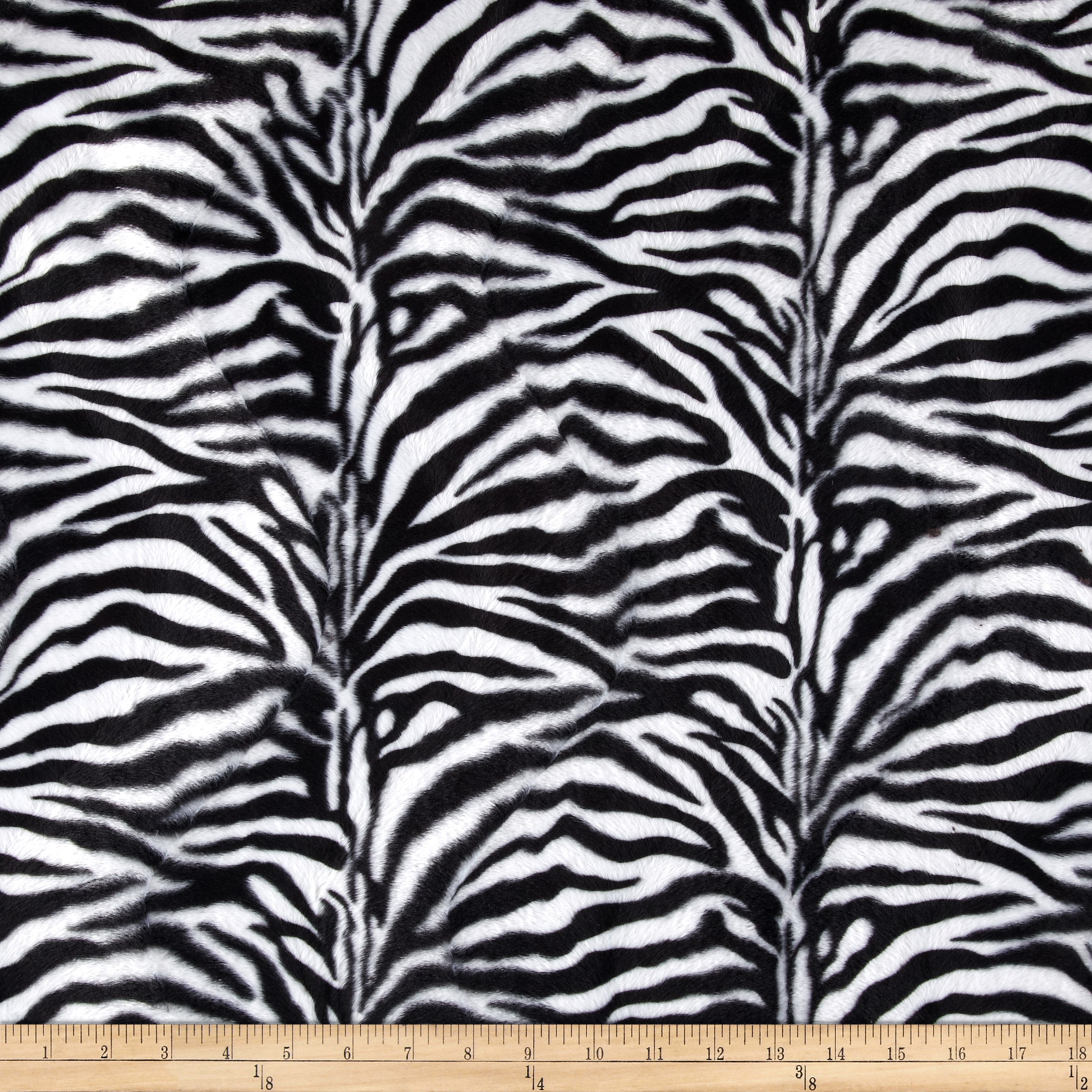 Velboa Faux Fur Zebra Small White/Black