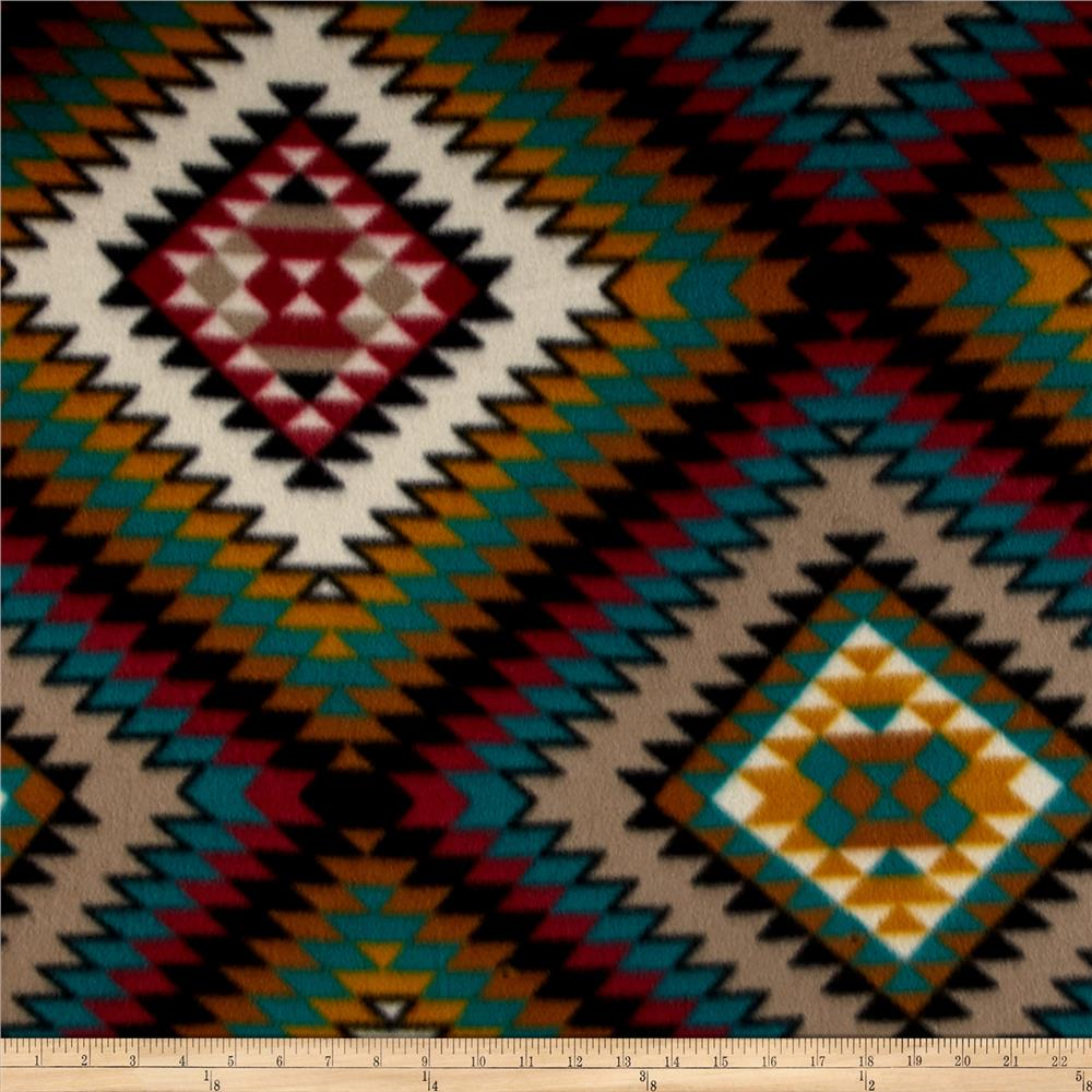 Polar Fleece Indian Blanket Spice Fabric