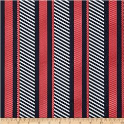 Cabana II Dotted Stripe Navy/Red