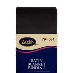 "2"" Satin Blanket Binding Black"