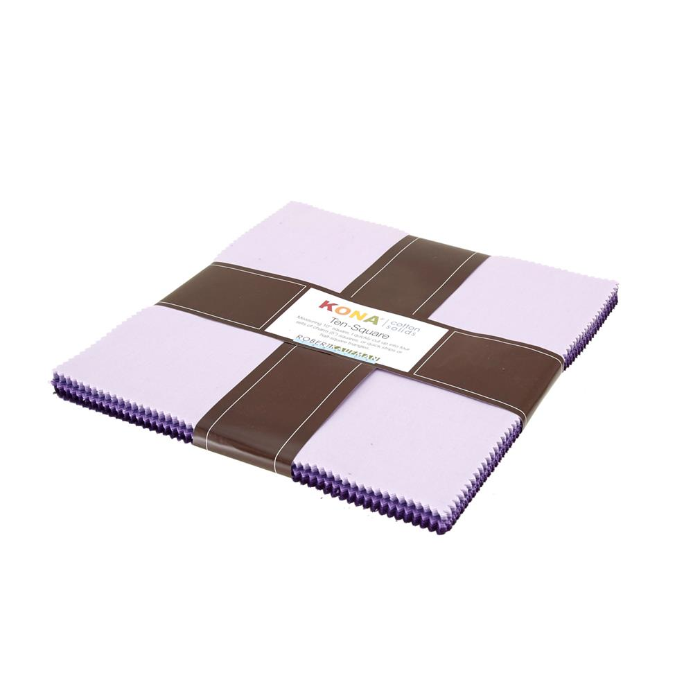 "Kaufman Kona Solids Lavender Fields 10"" Layer Cake"