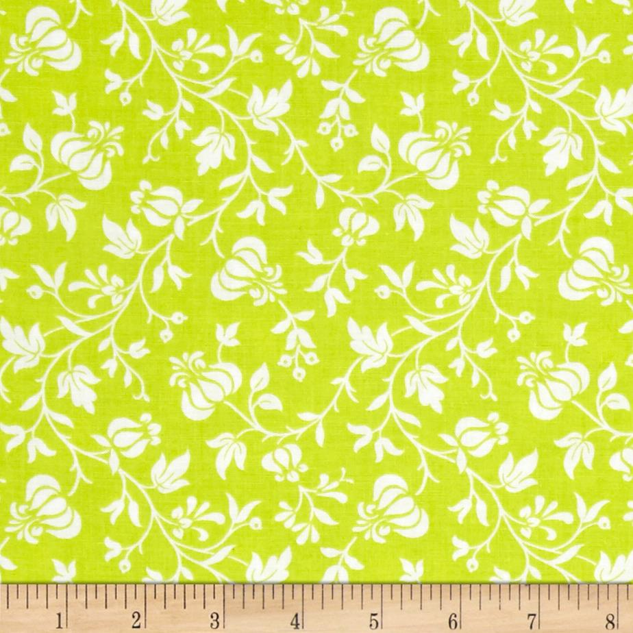 Modern Mixers III Vine Floral Lime