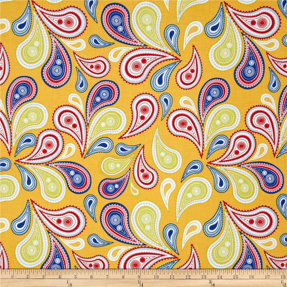 Riley Blake Summer Celebration Summer Paisley Yellow