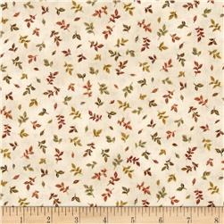 Falls Canvas Small Leaves Multi/White