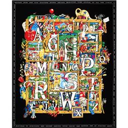 Shadowbox Hunt Playmat Alphabet Panel Black