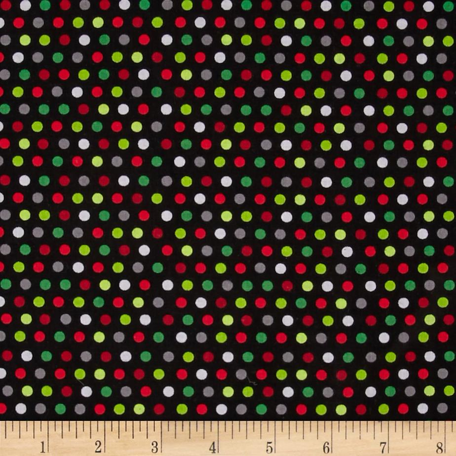 Holly Jollies Dots Black