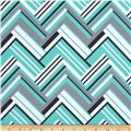 Michael Miller Pastel Pop It's A Boy Thing Flannel Virginia Aqua