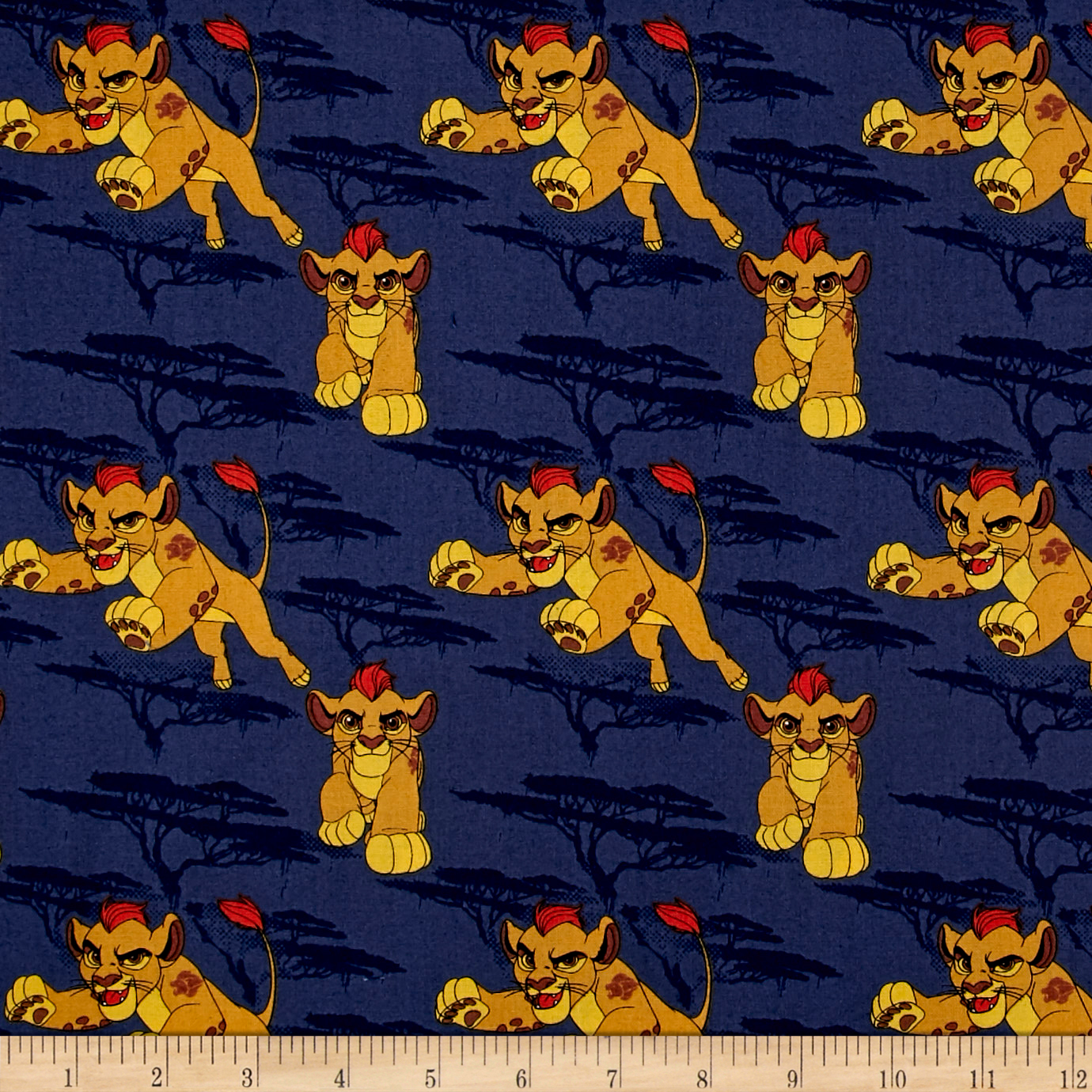 Disney Lion Guard Kion Navy Fabric by Eugene in USA