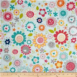 Riley Blake Snapshots Floral Blue Fabric