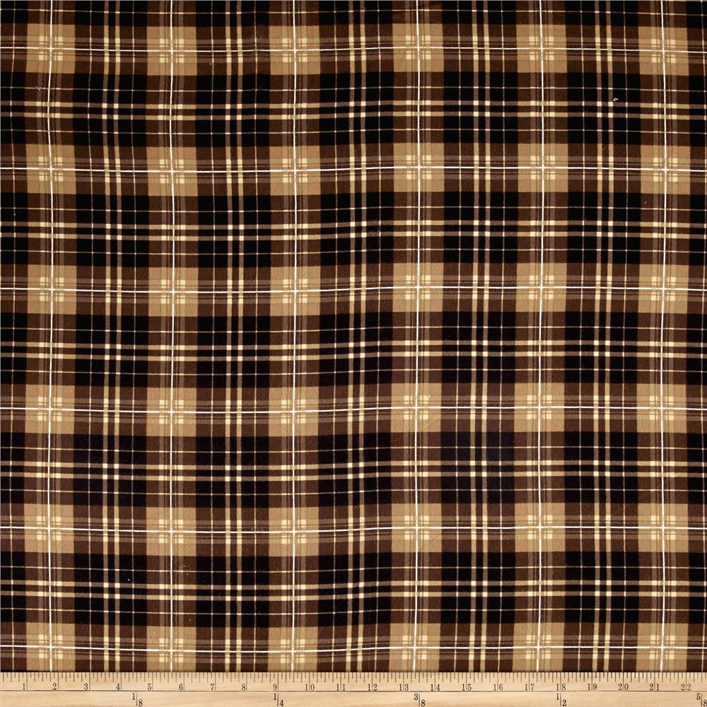 Timeless Treasures Oxford Flannel Tartan Plaid Chestnut Fabric