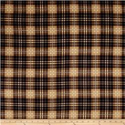 Timeless Treasures Oxford Flannel Tartan Plaid Chestnut