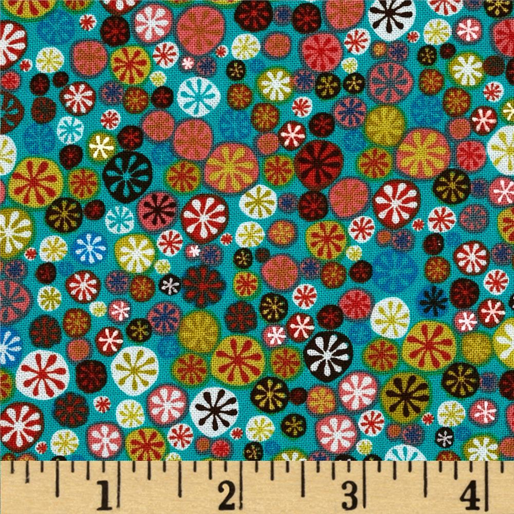 Nod to Mod Happy Buttons Teal