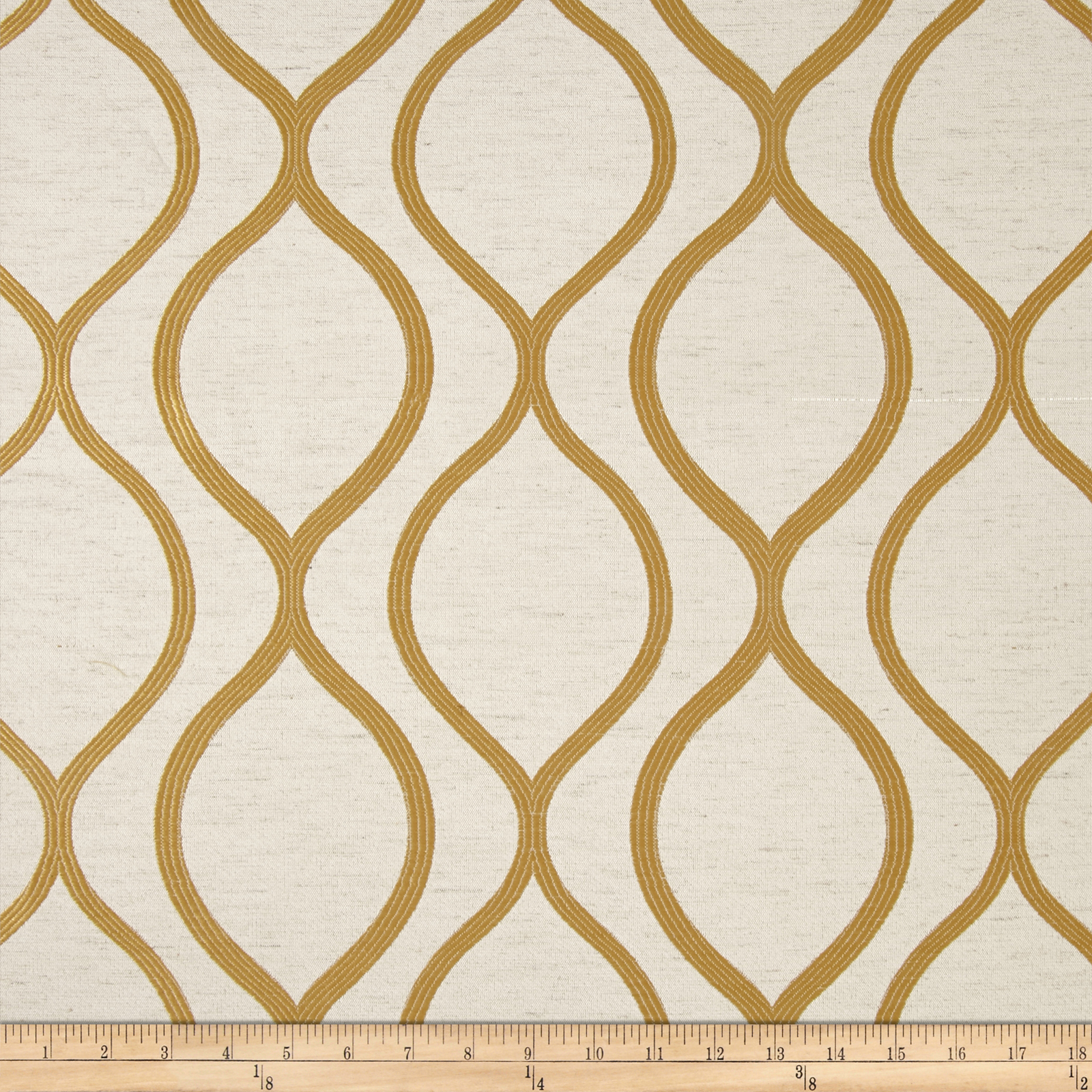Eroica Lancaster Jacquard Gold Fabric by Eroica in USA