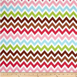Remix Chevron Sorbet Brown Fabric